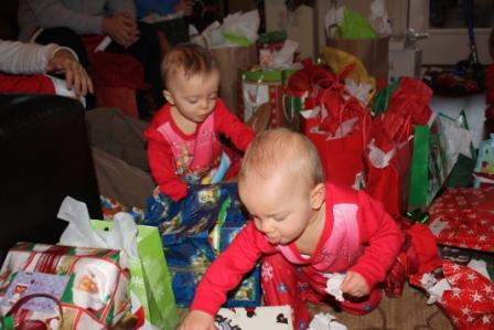 Ryan and Britton Opening Gifts